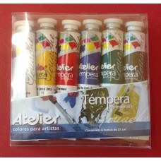 Tempera Atelier Blister de Témperas de 21 ml - 6 PC