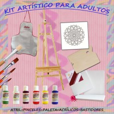 KIT Completo Para Adultos con Atril de pie y Acrílicos Decorativos - NRO. 9
