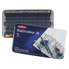 Lápices Derwent Set Watercolour en Lata - Colores Acuarelables - Imp Inglaterra - 36 PC