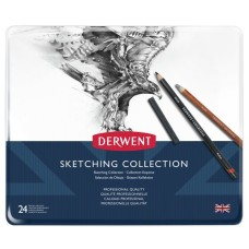 Lápices Derwent Sketching Collection - en Lata - Imp Inglaterra - 24 PC